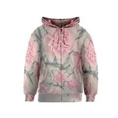 Cloves Flowers Pink Carnation Pink Kids  Zipper Hoodie by Amaryn4rt