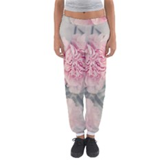 Cloves Flowers Pink Carnation Pink Women s Jogger Sweatpants by Amaryn4rt