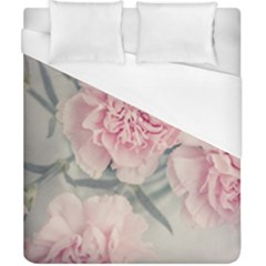 Cloves Flowers Pink Carnation Pink Duvet Cover (california King Size) by Amaryn4rt