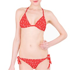 Red Alphabet Bikini Set by Jojostore