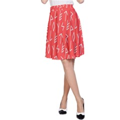 Red Alphabet A Line Skirt by Jojostore