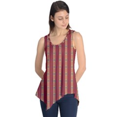 Pattern Background Red Stripes Sleeveless Tunic