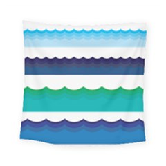 Water Border Water Waves Ocean Sea Square Tapestry (small)