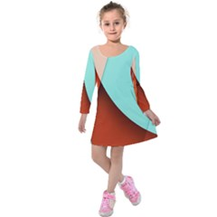Thumb Lollipop Wallpaper Kids  Long Sleeve Velvet Dress