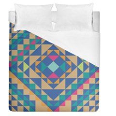 Tiling Pattern Duvet Cover (Queen Size) by Jojostore