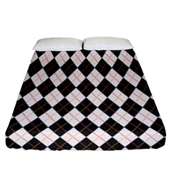 Tumblr Static Argyle Pattern Gray Brown Fitted Sheet (california King Size) by Jojostore