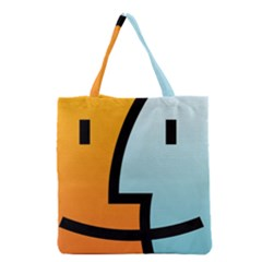 Two Fafe Orange Blue Grocery Tote Bag