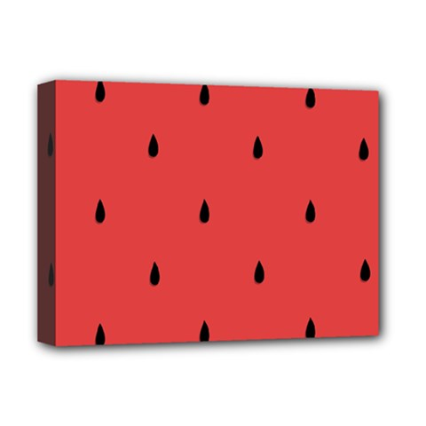 Watermelon Seeds Red Deluxe Canvas 16  X 12