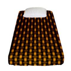Webbing Woven Bamboo Orange Yellow Fitted Sheet (single Size) by Jojostore