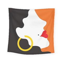 Woman s Face Square Tapestry (small)