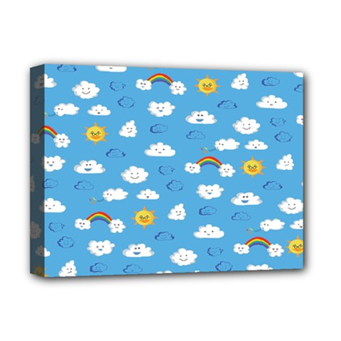 White Clouds Deluxe Canvas 16  x 12   by Jojostore