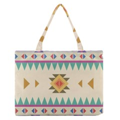 Your First Aztec Pattern Medium Zipper Tote Bag by Jojostore