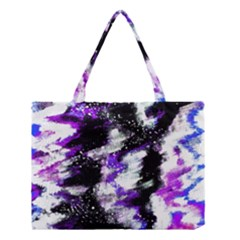 Abstract Canvas Acrylic Digital Design Medium Tote Bag by Amaryn4rt