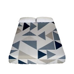 Geometric Triangle Modern Mosaic Fitted Sheet (full/ Double Size) by Amaryn4rt