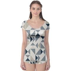 Geometric Triangle Modern Mosaic Boyleg Leotard  by Amaryn4rt