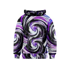 Canvas Acrylic Digital Design Kids  Pullover Hoodie by Amaryn4rt