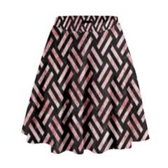 WOV2 BK-RW MARBLE High Waist Skirt by trendistuff