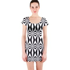 Background Short Sleeve Bodycon Dress by Jojostore