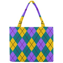 Texture Background Argyle Teal Mini Tote Bag by Jojostore