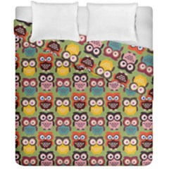 Eye Owl Colorful Cute Animals Bird Copy Duvet Cover Double Side (california King Size) by Jojostore