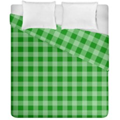 Gingham Background Fabric Texture Duvet Cover Double Side (california King Size) by Jojostore
