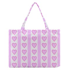 Heart Pink Valentine Day Medium Zipper Tote Bag by Jojostore