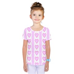 Heart Pink Valentine Day Kids  One Piece Tee by Jojostore