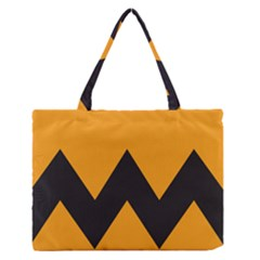 Minimal Modern Simple Orange Medium Zipper Tote Bag by Jojostore