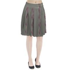 Minimalism Grey Background Pleated Skirt by Jojostore