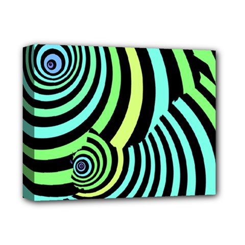 Optical Illusions Checkered Basic Optical Bending Pictures Cat Deluxe Canvas 14  X 11  by Jojostore