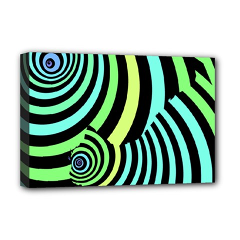 Optical Illusions Checkered Basic Optical Bending Pictures Cat Deluxe Canvas 18  X 12   by Jojostore