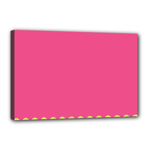Pink Yellow Canvas 18  X 12  by Jojostore