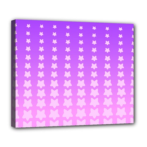 Purple And Pink Stars Line Deluxe Canvas 24  X 20   by Jojostore