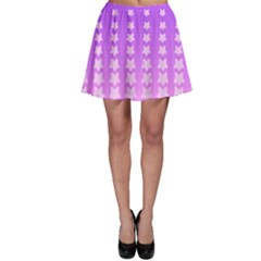 Purple And Pink Stars Line Skater Skirt