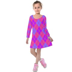 Texture Kids  Long Sleeve Velvet Dress by Jojostore