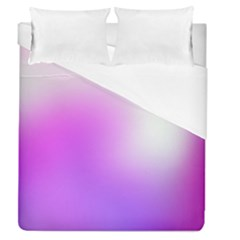 Purple White Background Bright Spots Duvet Cover (queen Size)