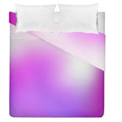 Purple White Background Bright Spots Duvet Cover Double Side (Queen Size) by Jojostore