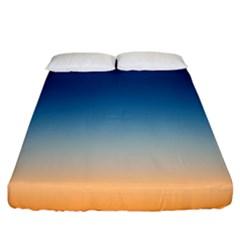 Rainbow Blue Orange Purple Fitted Sheet (king Size)