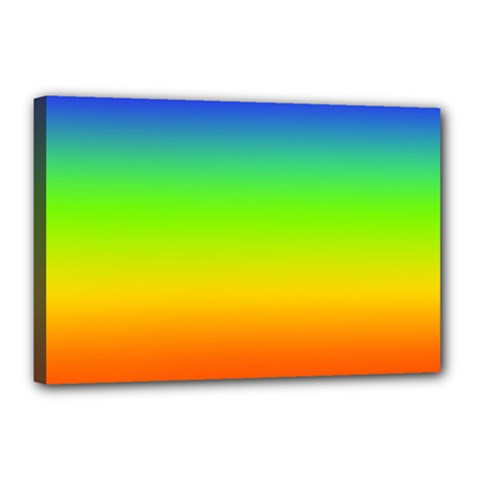Rainbow Blue Green Pink Orange Canvas 18  X 12  by Jojostore