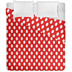 Red Circular Pattern Duvet Cover Double Side (california King Size) by Jojostore