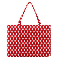Red Circular Pattern Medium Zipper Tote Bag by Jojostore