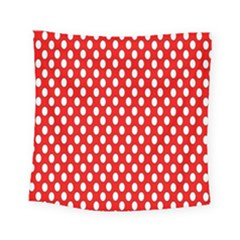 Red Circular Pattern Square Tapestry (small)