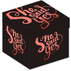 She Said Yes Storage Stool 12   by Jojostore