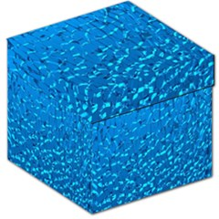 Shattered Blue Glass Storage Stool 12   by Jojostore