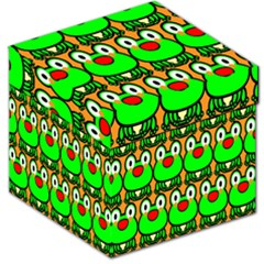 Sitfrog Orange Face Green Frog Copy Storage Stool 12   by Jojostore