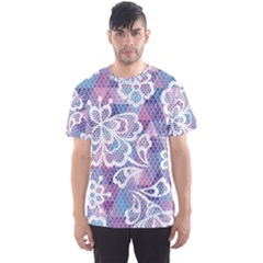 Cute Colorful Nenuphar Flower Men s Sport Mesh Tee by Brittlevirginclothing