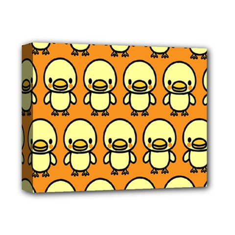 Small Duck Yellow Deluxe Canvas 14  X 11  by Jojostore