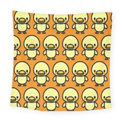 Small Duck Yellow Square Tapestry (large)