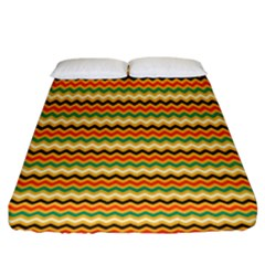 Striped Pictures Fitted Sheet (king Size)