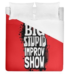 Big Stupid Profile Duvet Cover (Queen Size) by Jojostore
